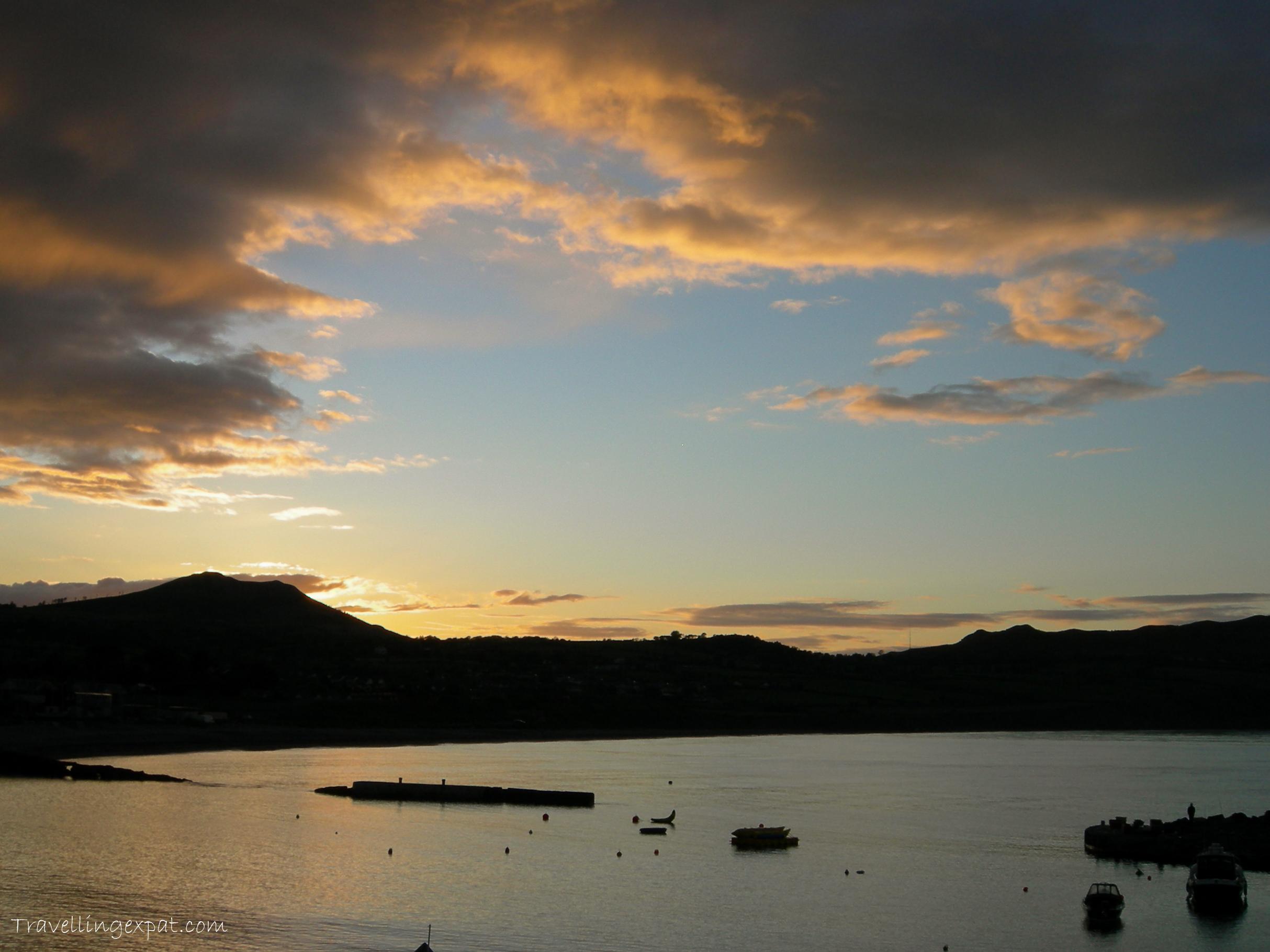 tramonto baia greystones