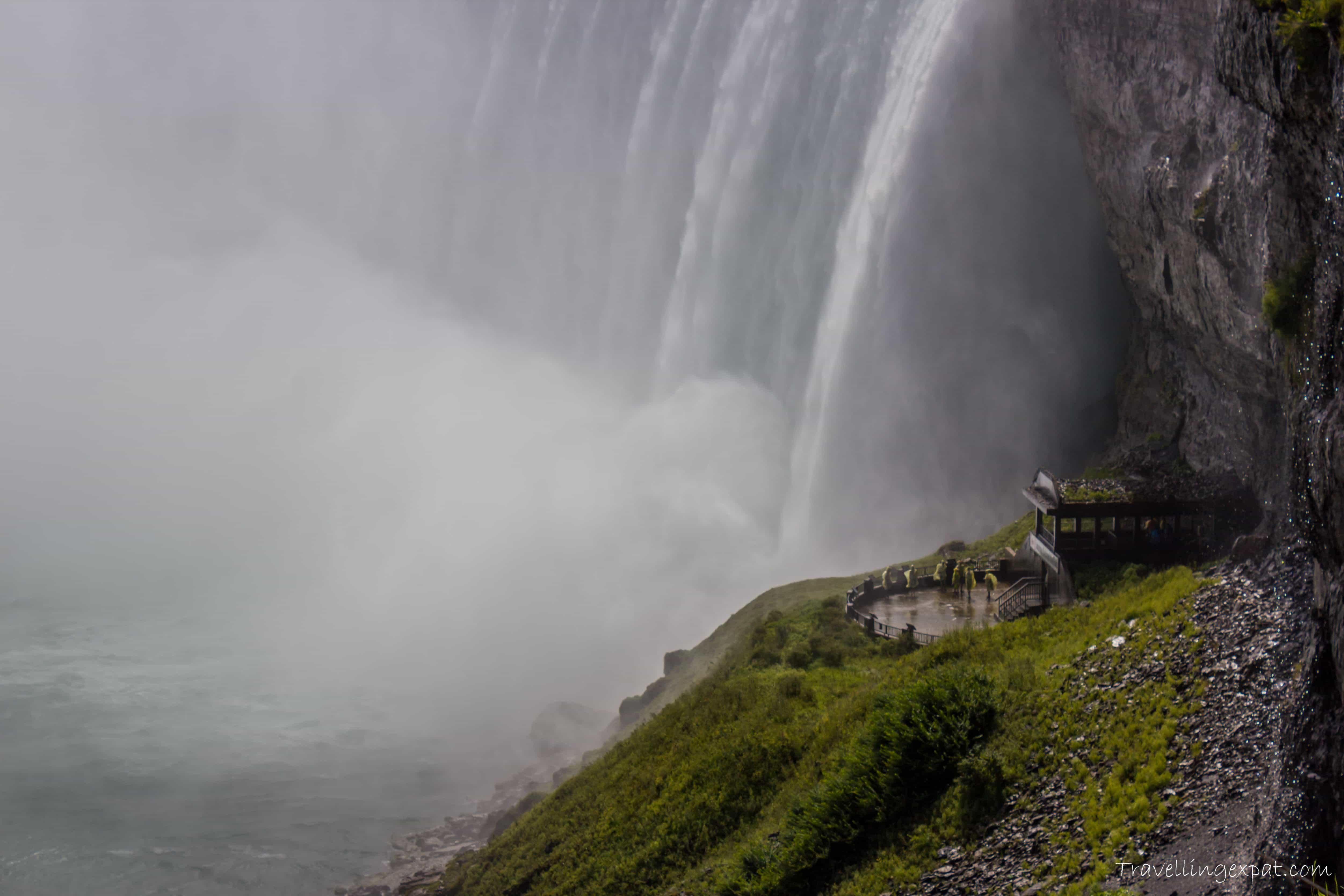 Le cascate viste da sotto