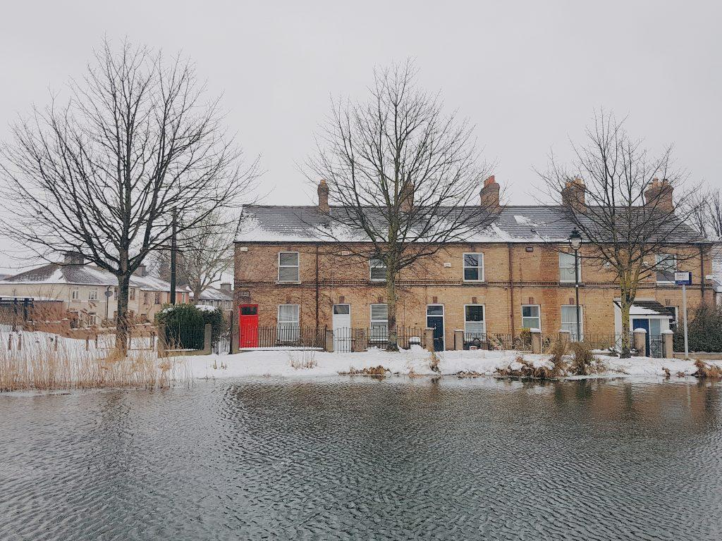 Dublino sotto la neve - Grand Canal