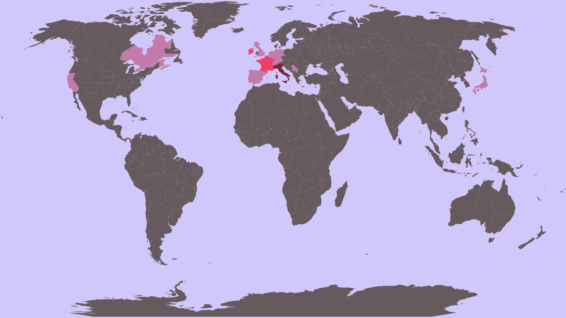 Mappa dei miei viaggi